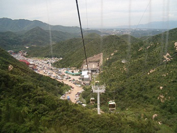 The Great Wall in Beijing: cable car