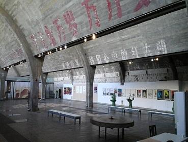 studio with modern art