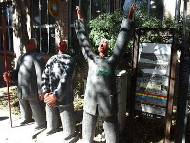 modern art statues on the street