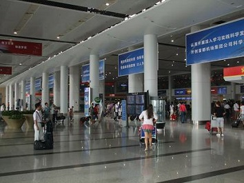 Beijing Airport departure hall
