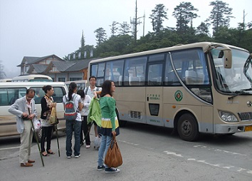 emei shan tour bus