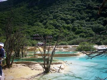 huanglong blue pond