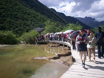 walking through the jiuzhaiguo zechawa valley