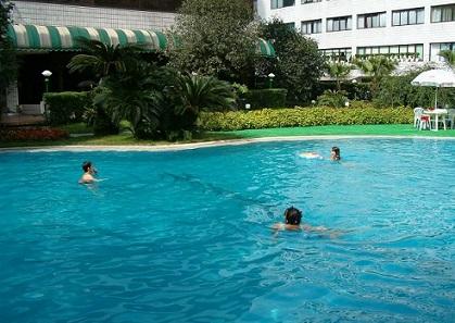 swimming pool minshan hotel