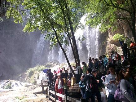pearl shoal waterfall Jiuzhaigou