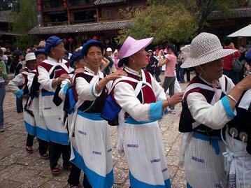 sifang street lijiang folk dancing