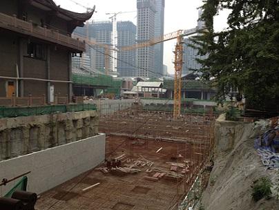 daci temple chengdu construction work