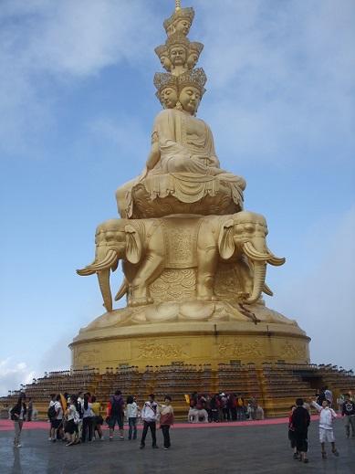 Golden Buddha at Emei mountain Chengdu