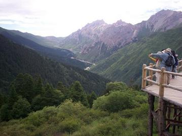 huanglong mountain scenic view
