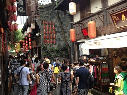 shopping in jingli street chengdu