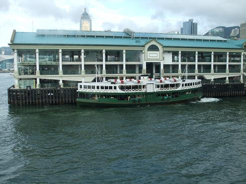 star ferry boat at central pier