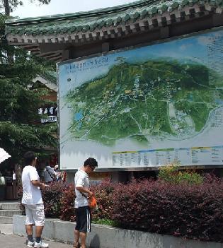 map of zhongshan park in nanjing