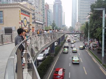 watching the traffic of zongfu rd